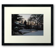 Freezing pond Framed Print