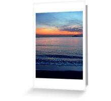 Sea-Sunset Greeting Card