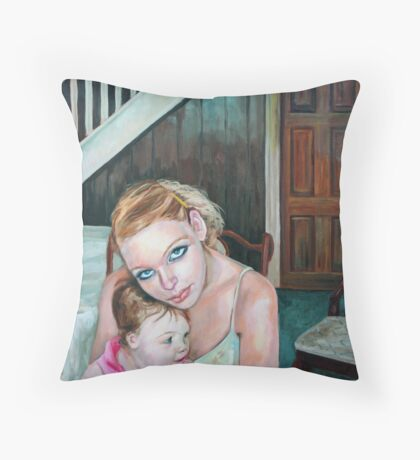 A brave new world (for the love of Baby) Throw Pillow
