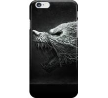 Black and White Wolf & Snake iPhone Case/Skin