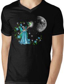 Blue Princess Mens V-Neck T-Shirt