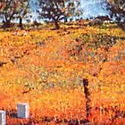 Beehives Near A Wheatfield. ( Homage To Vincent VanGogh ) by Richard  Tuvey