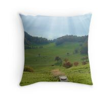 Jingle Cows Throw Pillow