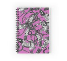 just lizards pink Spiral Notebook