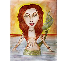 Mermaid by the Sea Photographic Print