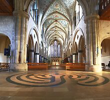 Boxgrove Priory Panorama by Dave Godden