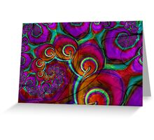 Psychedelic Grunge Frac Greeting Card
