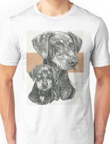 Doberman (uncropped), Father & Son Unisex T-Shirt