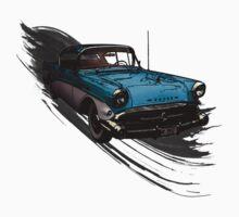 Car Retro Vintage Design Kids Tee