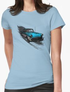 Car Retro Vintage Design Womens Fitted T-Shirt