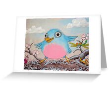 Bluebird and friends 2 - Happy themed critter friends grouping intended for a childs room Greeting Card