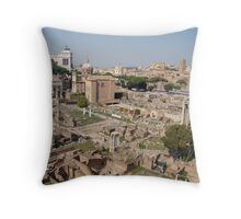 Standing Against Time Throw Pillow