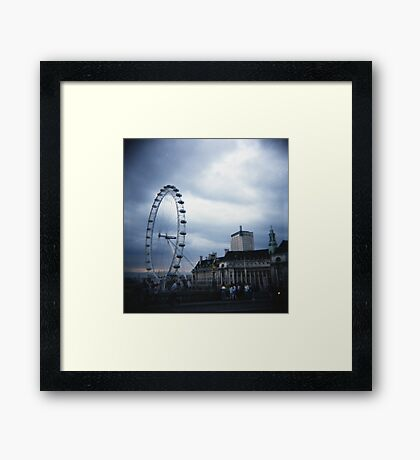 London Eye - Cross Processed Framed Print