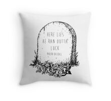 modern baseball tombstone Throw Pillow
