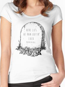 modern baseball tombstone Women's Fitted Scoop T-Shirt