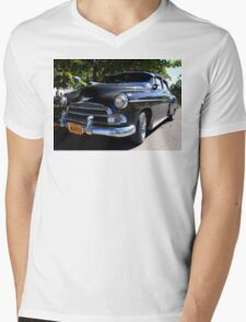 Black Cuban Cruiser Mens V-Neck T-Shirt