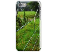 wool on a wire fence iPhone Case/Skin