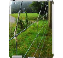 wool on a wire fence iPad Case/Skin