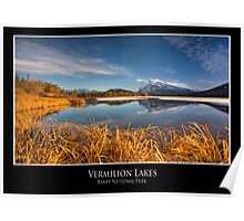 Vermilion Lakes, Banff National Park Poster