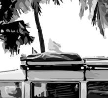 Volkswagen Campervan Beach Scene Sticker