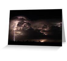 Friday - Cloudy with a Chance of Thunder Storms Greeting Card