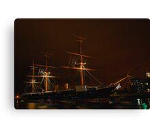 HMS Warrior at Night Canvas Print