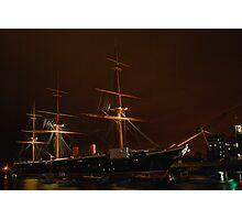 HMS Warrior at Night Photographic Print
