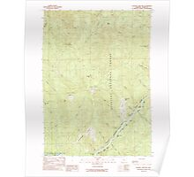 USGS Topo Map Oregon Soldier Camp Mtn 281561 1989 24000 Poster