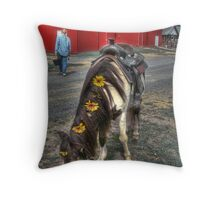 With Flowers in Your Hair Throw Pillow