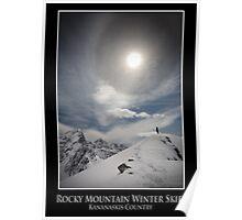 Rocky Mountain Winter Skies, Kananaskis Country Poster