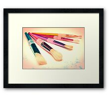 Paint Brushes Framed Print
