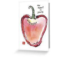 Sweet Bell Pepper Heart Greeting Card