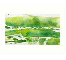 Green Meadows I Art Print