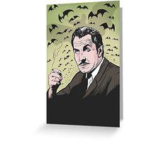 "Vincent Price ""The Bat"" Illustration! Greeting Card"