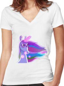 Gravity Falls - Unicorn Women's Fitted V-Neck T-Shirt