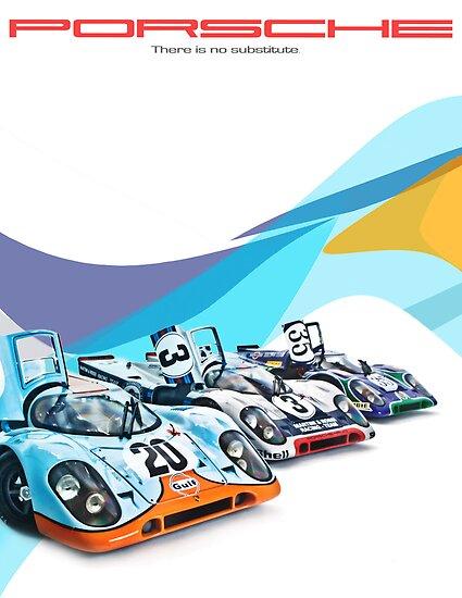 Porsche Gulf Martini 917K Advertisement Poster by LongbowX
