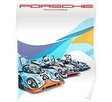 Porsche Gulf Martini 917K Advertisement Poster Poster