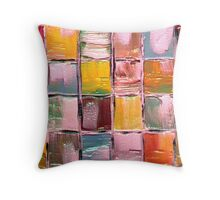 Little Blocks of Life Throw Pillow