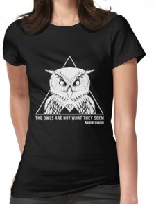 RADIOLEVANO - Twin Peaks - Owl Womens Fitted T-Shirt