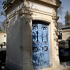 Pere Lachaise tomb door by triciamary