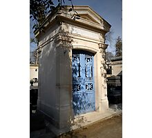Pere Lachaise tomb door Photographic Print