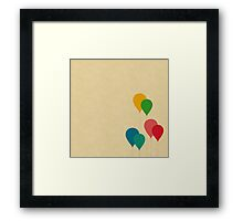 Graphic Baloons Framed Print