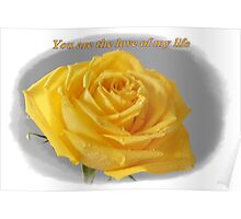 Yellow Rose Love Card and Gifts Poster