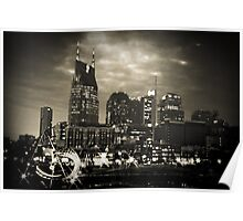 Downtown Nashville Tennessee Poster
