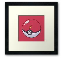 Pikachu's Pokeball Framed Print