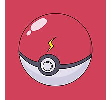 Pikachu's Pokeball Photographic Print