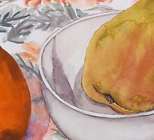 Pear and Mineola Still-life by cszuger