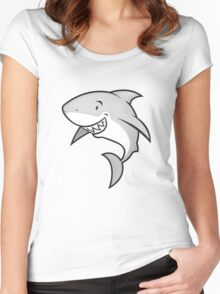 Love sharks/Great white buddy Women's Fitted Scoop T-Shirt