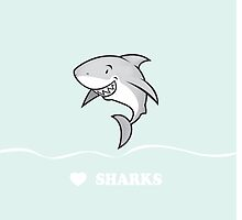 Love sharks/Great white buddy by mangulica