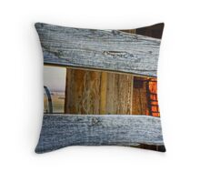 Worn Out ~ The Homestead At Sundown Throw Pillow